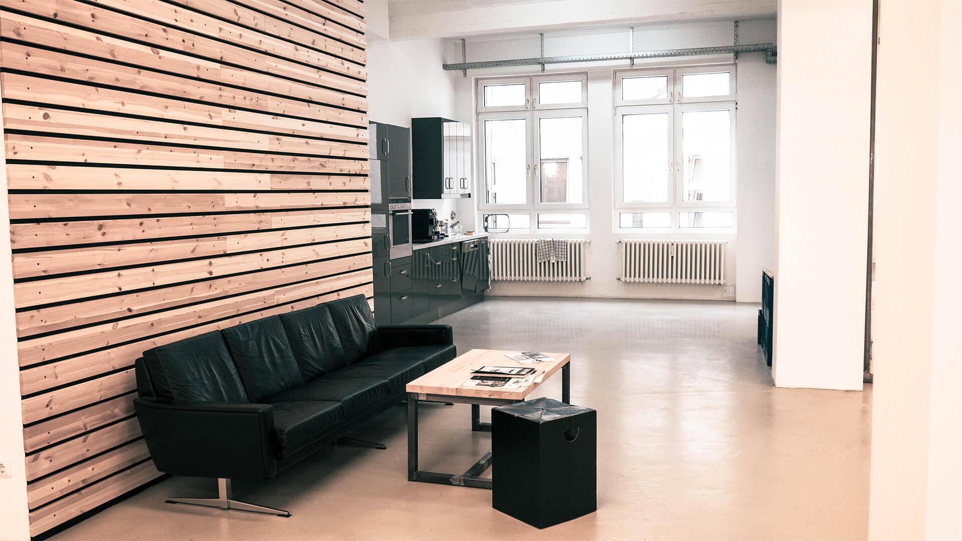 Couch und Küche